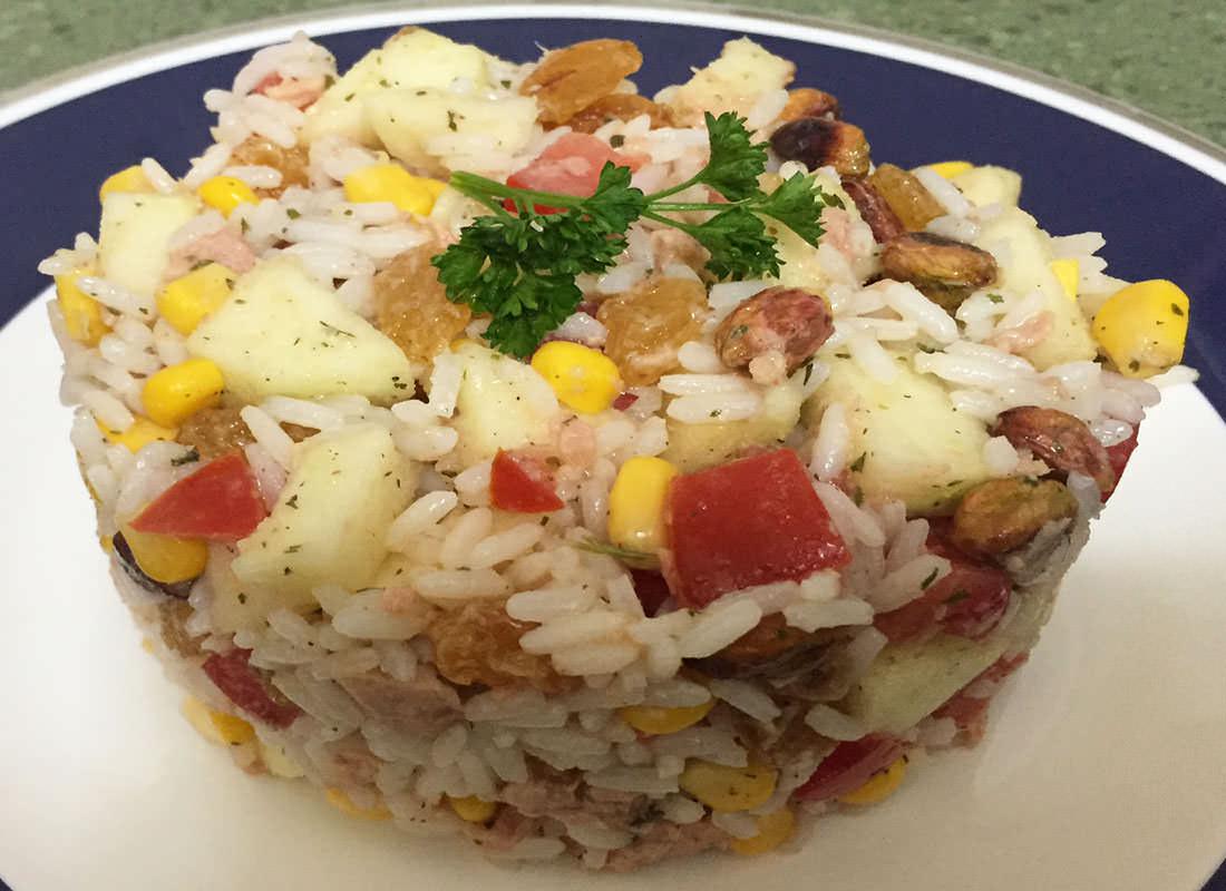 Ensalada de arroz con manzana verde eltontolosmeros - Ensalada de arroz y atun ...